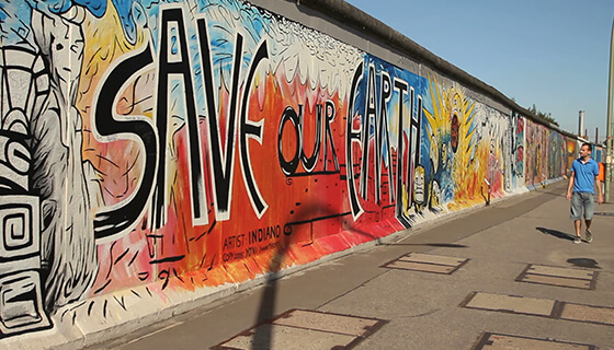 Berlin Wall(155 kms long)