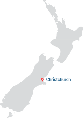 Christchurch Map